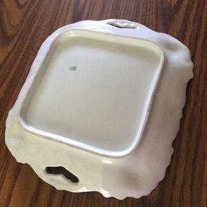 Vintage Kitchen - Vintage square plate with handles +